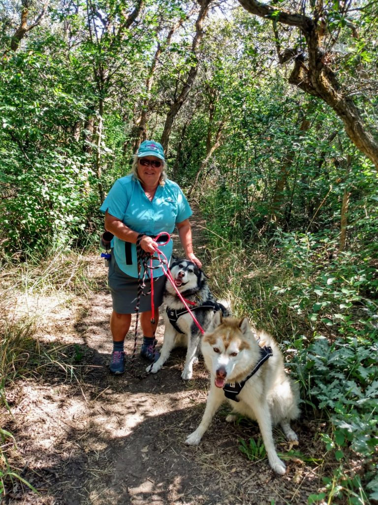 Mrs Ram with Kona and Rocky