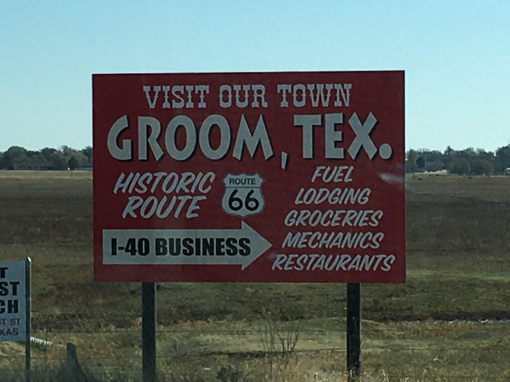Groom TX Sign