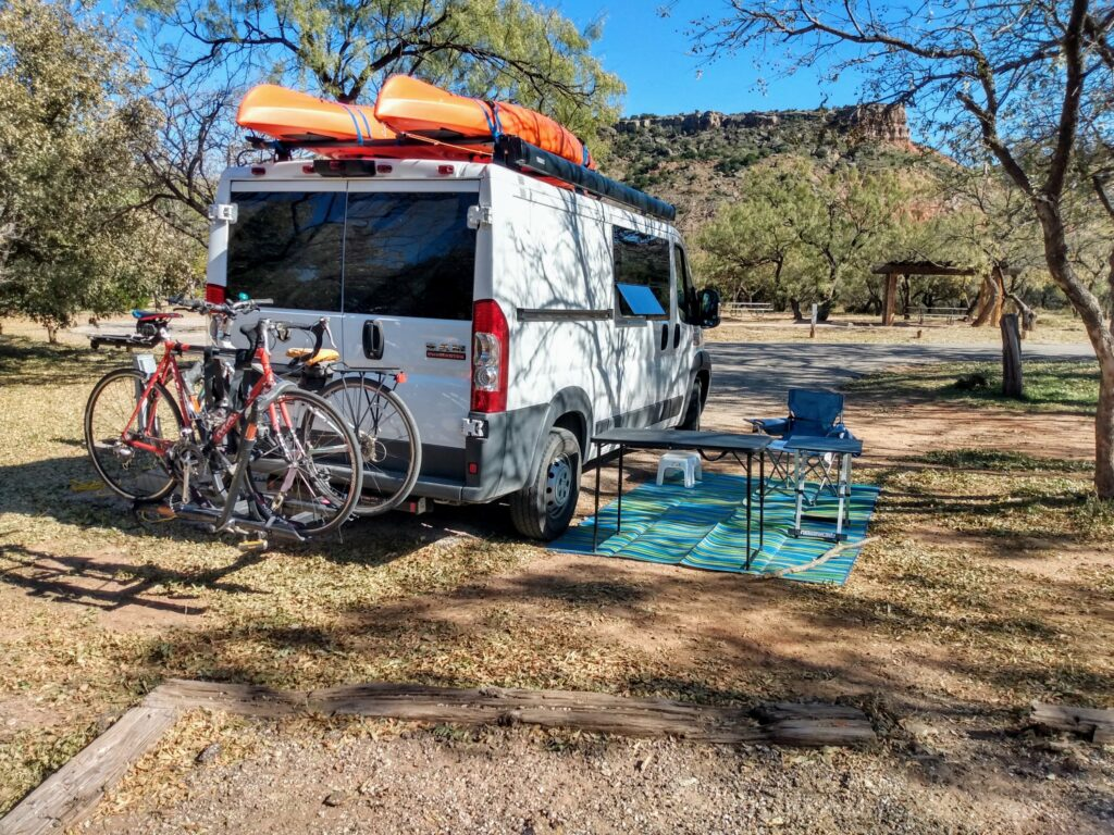 Van in Palo Duro Campground