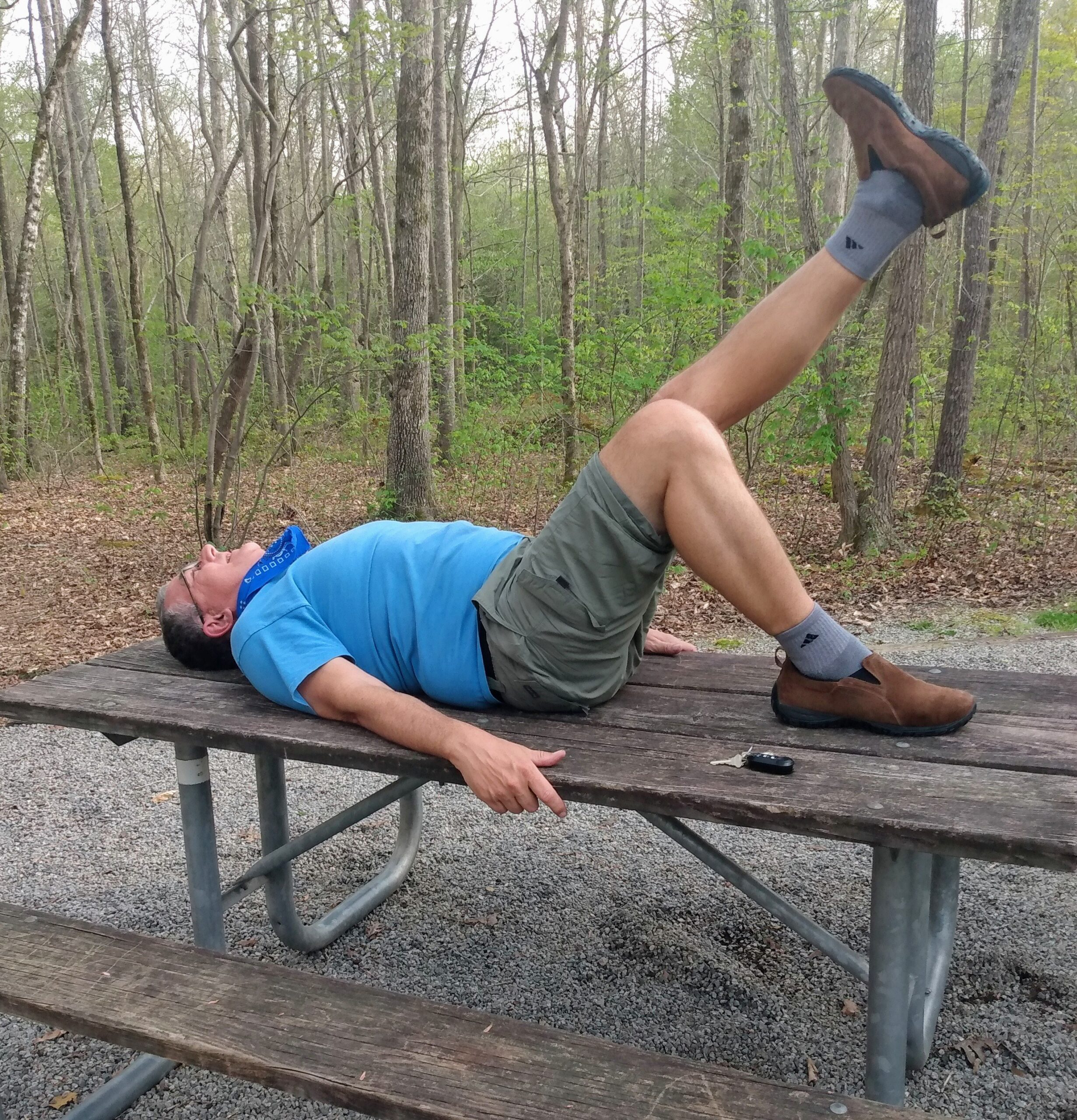 PT on a picnic table